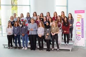 Die zum Girls'Day eingeladenen Schülerinnen